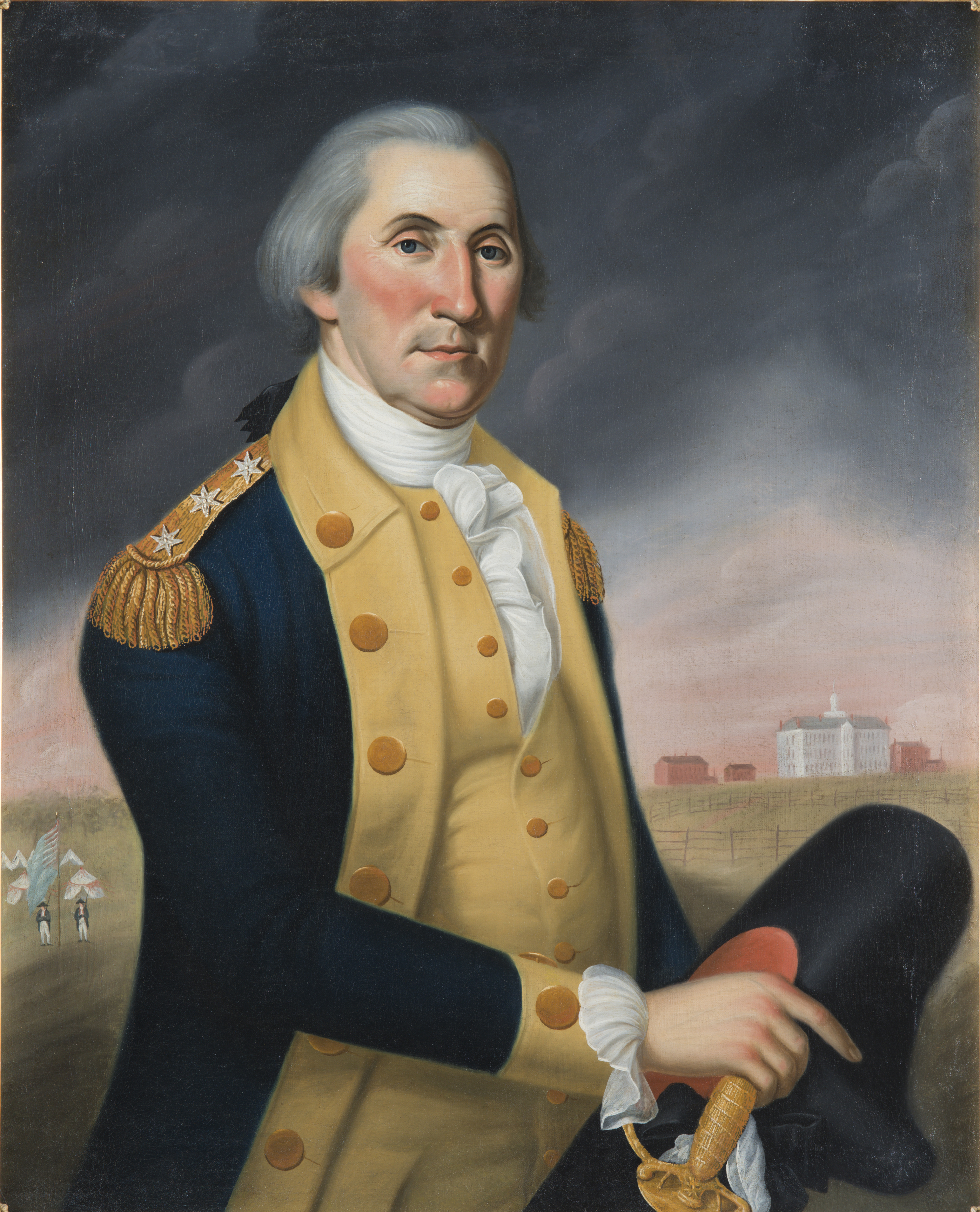 Photo: Photo caption: Charles Peale Polk, nephew of the famous American painter Charles Willson Peale, painted this portrait of George Washington circa 1790. The painting depicts Washington in front of Nassau Hall in Princeton, New Jersey, a reference to his important victory there in 1777. Fort Ticonderoga Museum Collection.