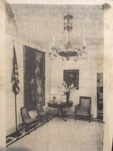 The chandelier featured in The Pell Home: Living Graciously with History (New York Times, 8/13/1965)