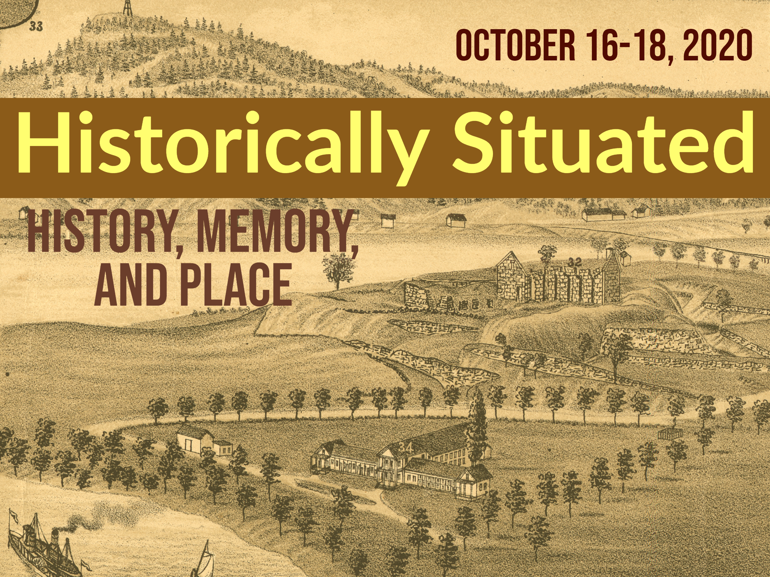 image of Fort Ticonderoga with text that says Historically Situated for History Conference in October 2020