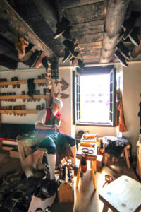shoemaking in a bright room