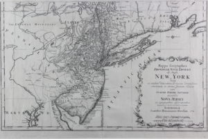 The area around New York Harbor was familiar territory for the 26th Regiment prior to being sent to Montréal in 1772. Mappa Geograhica Provinciæ Novæ Eboraci ab Anglis New York, Claude Joseph Sauthier, 1778. (Fort Ticonderoga Museum Collection, 2018.6.22)