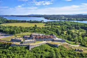aerial view of Fort Ticonderoga. Photo Credit Carl Heilman II