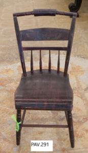 This chair is the oddball that caused so much confusion. This chair had been accessioned instead of another chair that was part of a larger set, which slipped past previous catalogers.