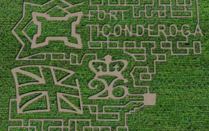graphic of heroic corn maze 2020 design