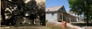 Photos of the Pavilion taken in the summer of 1931 and just last week showing a similar angle of the building. That little twig of a tree in 1931 has grown into a large shade tree over the course of nearly a century.