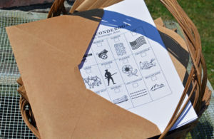 envelope with childrens activities inside
