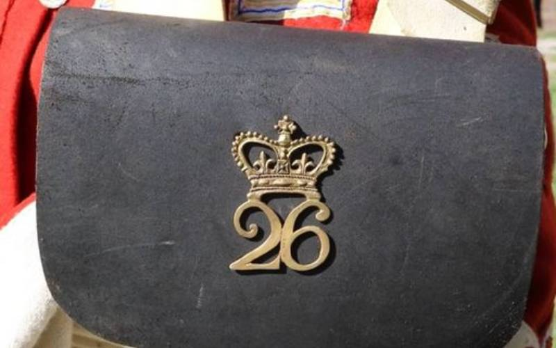 cartridge plate with 26 Regiment of Foot symbol