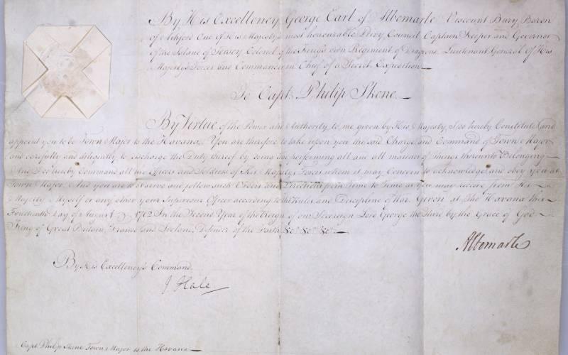 detail of letter
