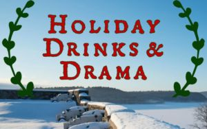 wintery background for drinks and drama program