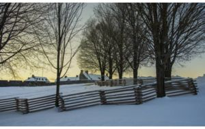 winter photo of fence and fort